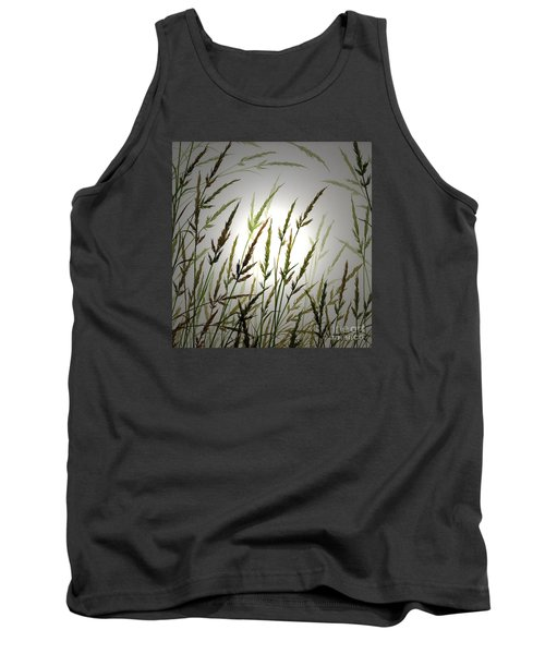 Tank Top featuring the digital art Tall Grass And Sunlight by James Williamson