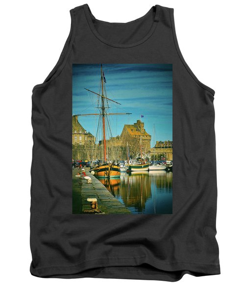 Tall Ship In Saint Malo Tank Top