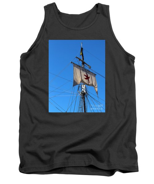 Tank Top featuring the photograph Tall Ship Mast by Cheryl Del Toro