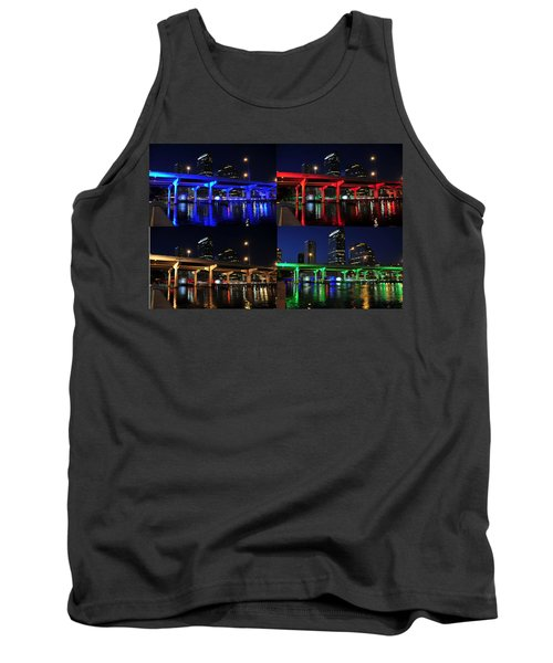 Tank Top featuring the photograph Tampa's Colorful Bridges by David Lee Thompson
