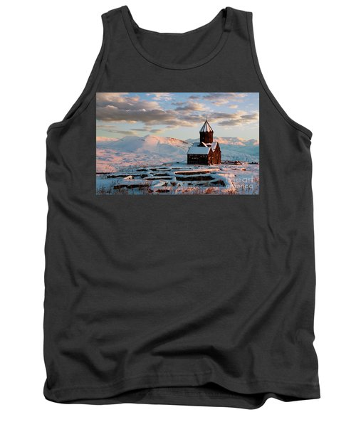 Tanahat Monastery At Sunset In Winter, Armenia Tank Top