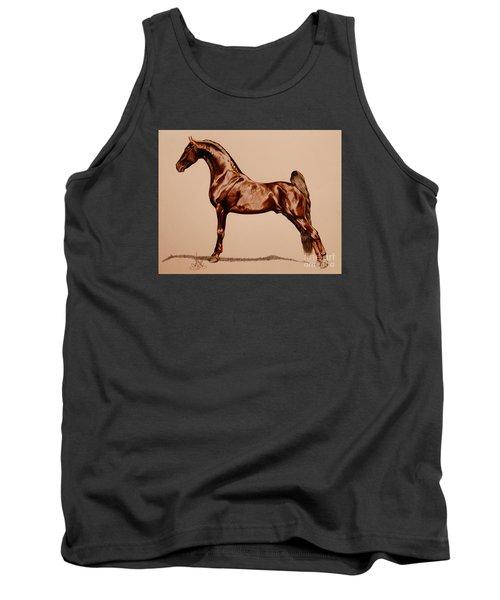 Tangos Daylight - Saddlebred Stallion Tank Top by Cheryl Poland