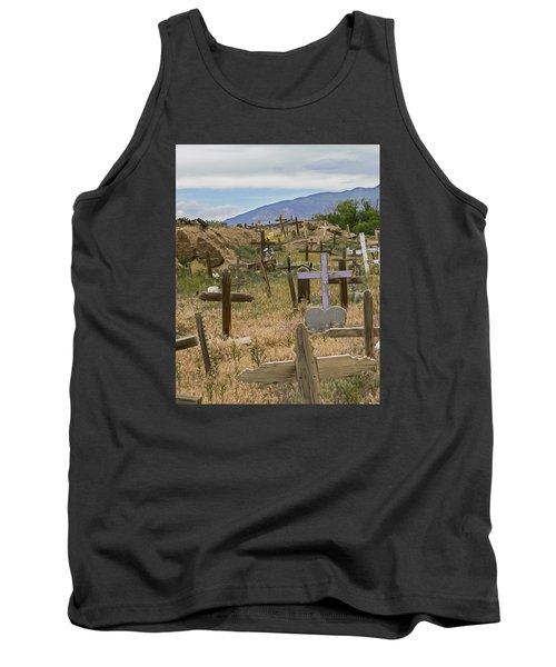 Taos Pueblo Cemetery Tank Top