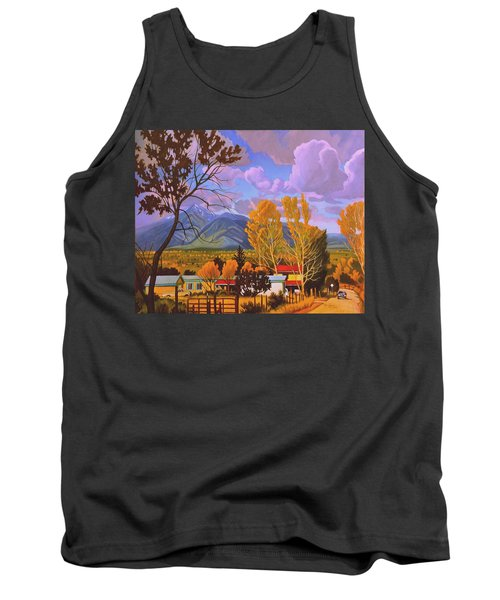 Taos Red Roofs Tank Top