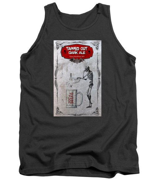 Tapped Out Ale Tank Top by Greg Sharpe
