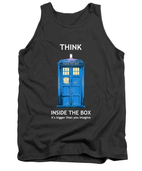 Tardis - Think Inside The Box Tank Top