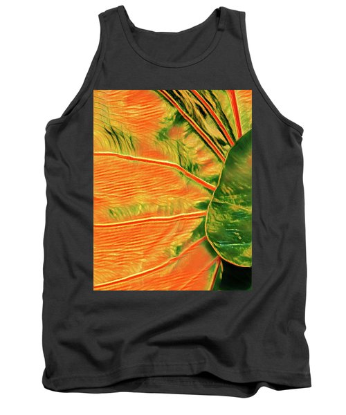 Taro Leaf In Orange - The Other Side Tank Top