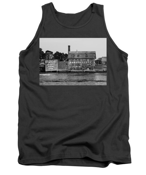 Tarr And Wonson Paint Manufactory In Black And White Tank Top