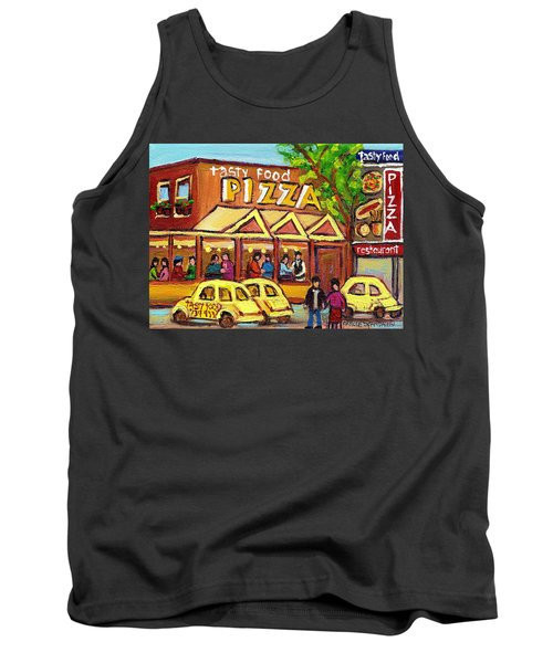 Tasty Food Pizza On Decarie Blvd Tank Top