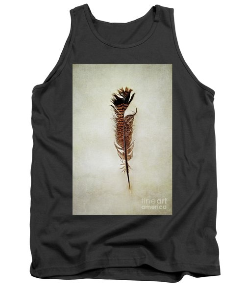 Tank Top featuring the photograph Tattered Turkey Feather by Stephanie Frey
