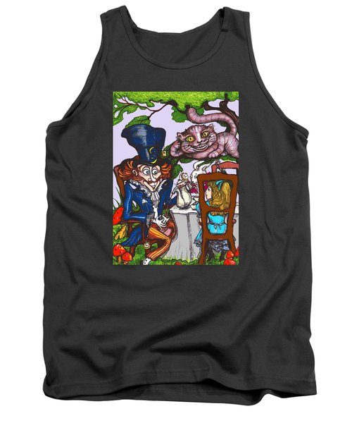 Tea Party Tank Top by Rae Chichilnitsky