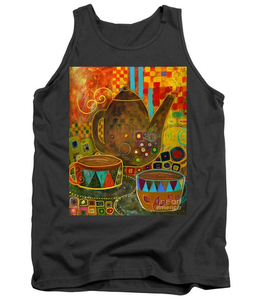 Tea Party With Klimt Tank Top by Robin Maria Pedrero