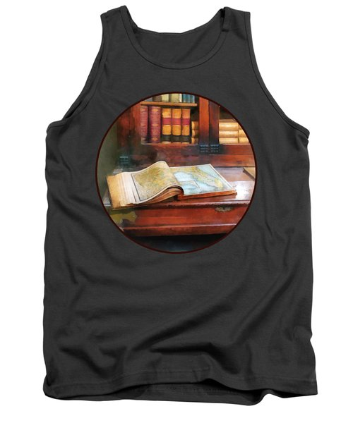 Teacher - Geography Book Tank Top