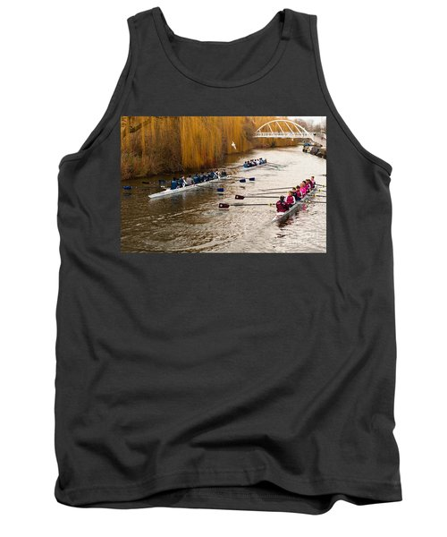 Teams Of Rowers On River Cam Tank Top