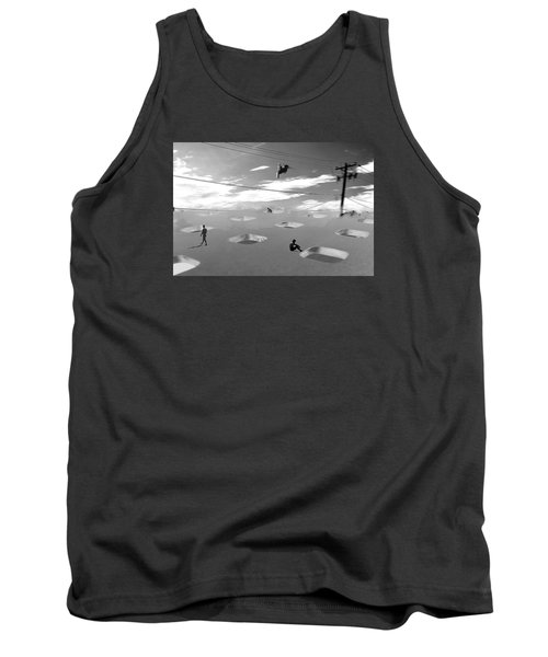 Tank Top featuring the photograph Telephone Line by Christopher Woods