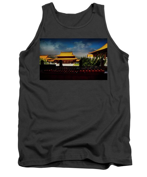 Tank Top featuring the photograph Temple Candles by Joseph Hollingsworth