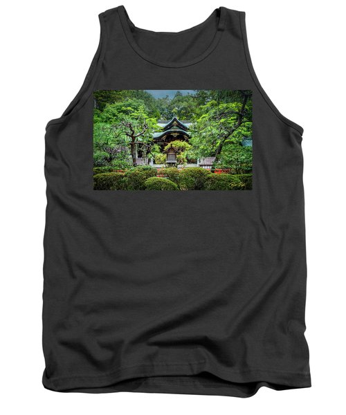 Tank Top featuring the photograph Temple In The Rain by Rikk Flohr