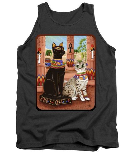 Temple Of Bastet - Bast Goddess Cat Tank Top