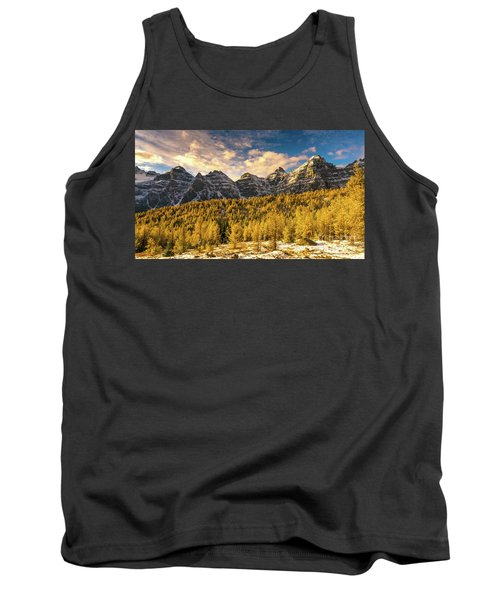Ten Peaks Canadian Rockies And Golden Fall Larch Colors Tank Top