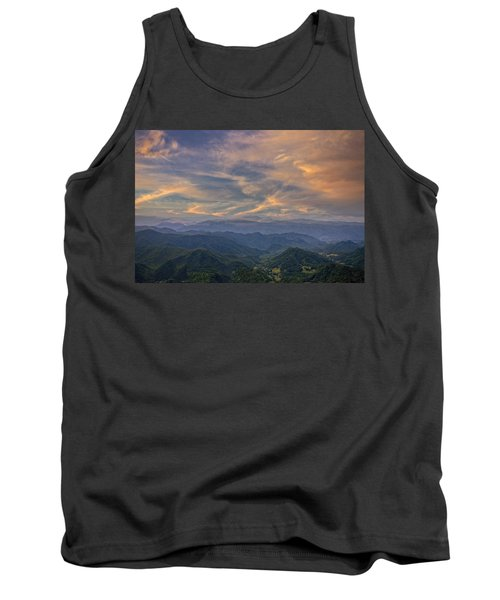 Tennessee Mountains Sunset Tank Top