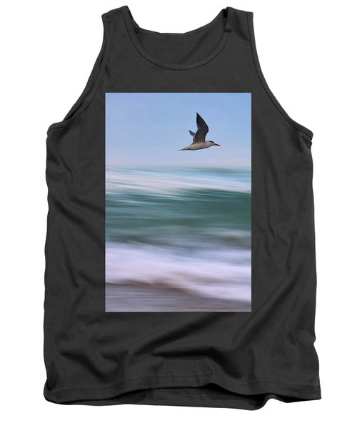 Tank Top featuring the photograph Tern Flight Vert by Laura Fasulo