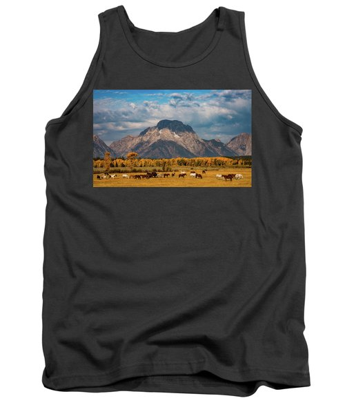 Tank Top featuring the photograph Teton Horse Ranch by Darren White