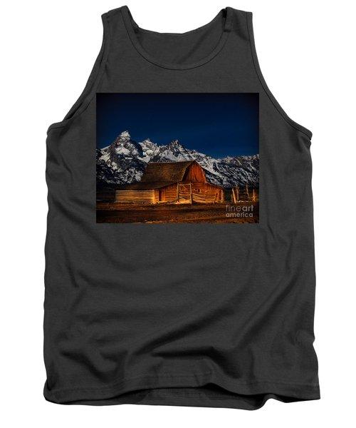 Teton Mountains With Barn Tank Top