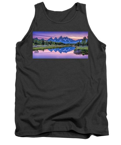 Sunset Teton Reflection Tank Top