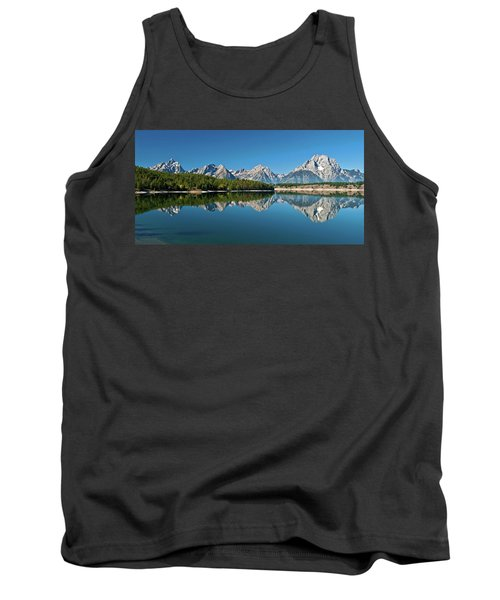 Tank Top featuring the photograph Teton Reflections II by Gary Lengyel