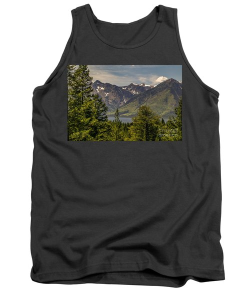 Tetons Landscape Tank Top by Sue Smith