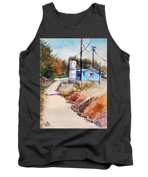 Tank Top featuring the painting Texaco by Ron Stephens