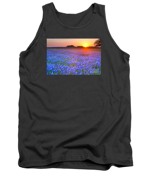 Tank Top featuring the photograph Texas Bluebonnets by Keith Kapple
