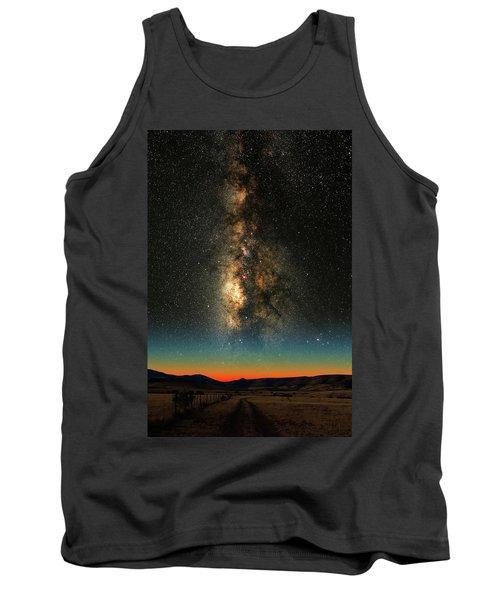 Texas Milky Way Tank Top by Larry Landolfi