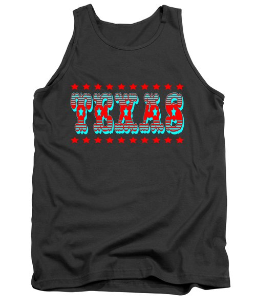 Texas Tshirt Design Tank Top