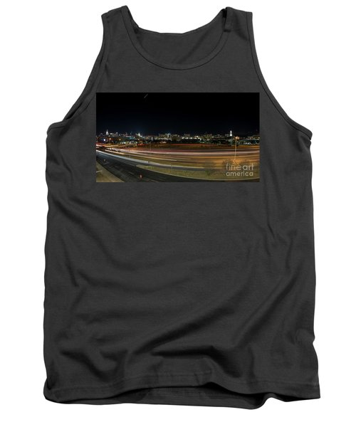 Texas University Tower And Downtown Austin Skyline From Ih35 Tank Top