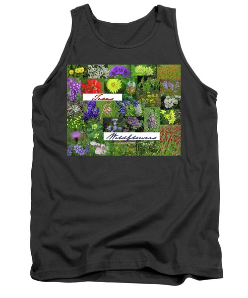 Texas Wildflower Collage Tank Top