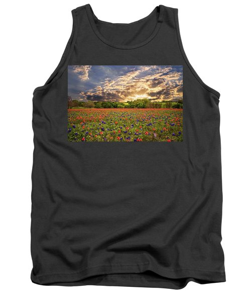 Texas Wildflowers Under Sunset Skies Tank Top by Lynn Bauer