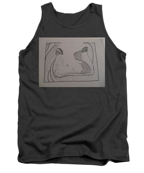 Textured Hippo Tank Top