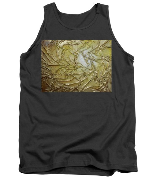 Tank Top featuring the mixed media Textured Light by Angela Stout