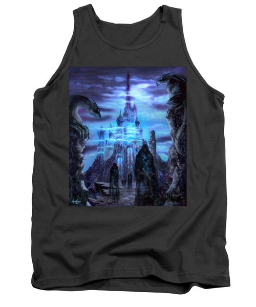 Tank Top featuring the mixed media Thangorodrim by Curtiss Shaffer