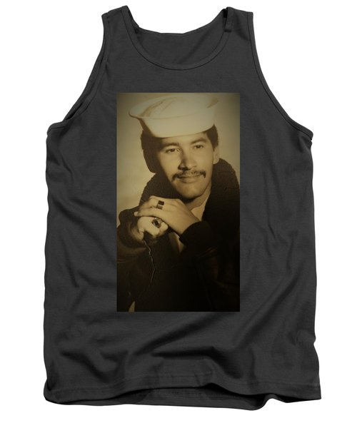Tank Top featuring the photograph Thank You For Your Service by Paul SEQUENCE Ferguson sequence dot net