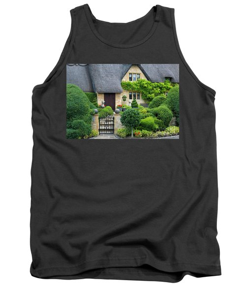 Tank Top featuring the photograph Thatch Roof Cottage Home by Brian Jannsen