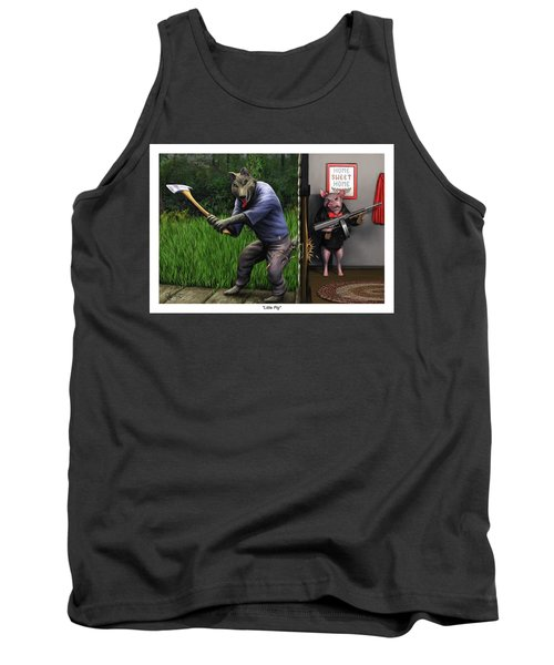 Tank Top featuring the painting That's What You Think Wolf by Dave Luebbert
