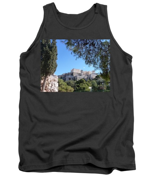 Tank Top featuring the photograph The Acropolis by Constance DRESCHER
