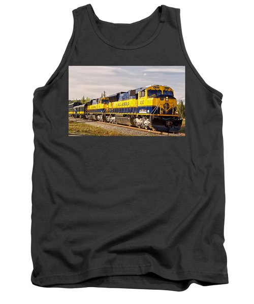 Tank Top featuring the photograph The Alaska Railroad by Michael Rogers