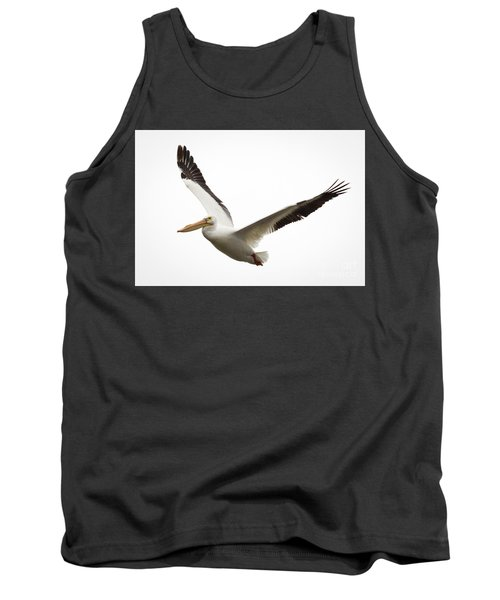 Tank Top featuring the photograph The Amazing American White Pelican by Ricky L Jones