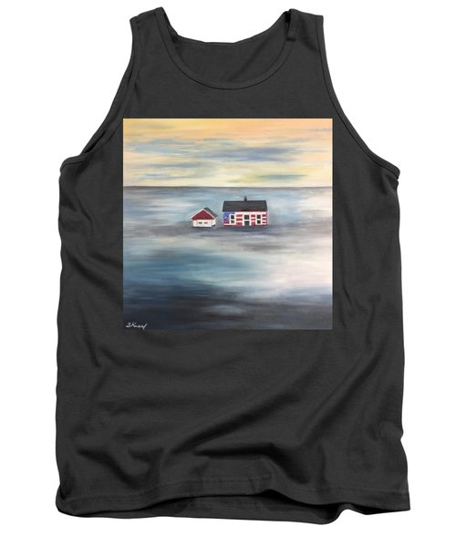 Tank Top featuring the painting The American Dream And Climate Change by Barbara Anna Knauf