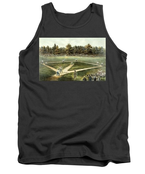 The American National Game Of Baseball Grand Match At Elysian Fields Tank Top