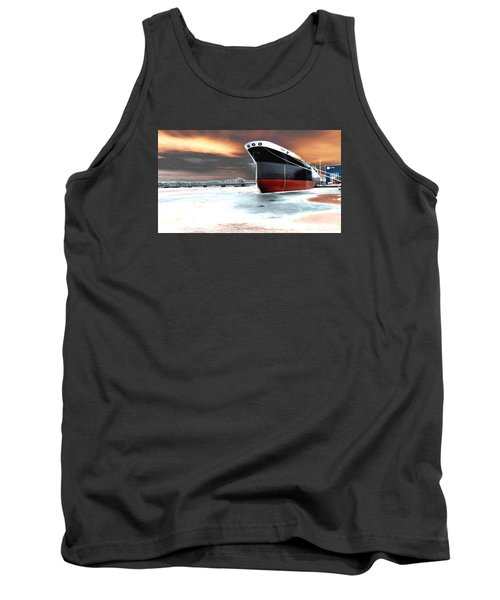 The Ship And The Steel Bridge. Tank Top
