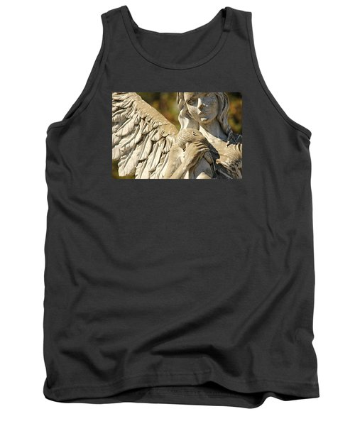 The Angel At St. Thomas Tank Top by Lynn Jordan